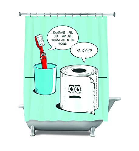 BigMouth Inc Worst Shower Curtain product image