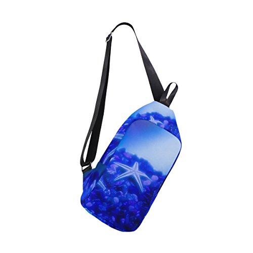 per Zaino e a stella uomo design blu donna mare con di conchiglie Coosun colore 11rwTq5