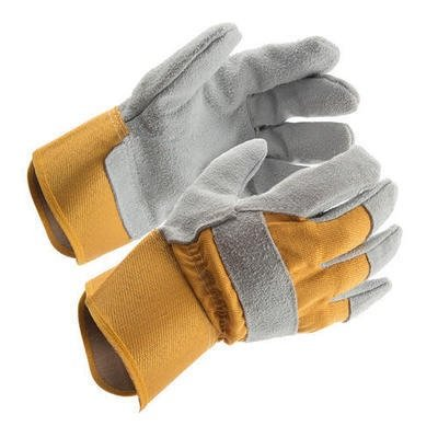 Rugged Wear Suede Leather Palm Work Gloves