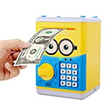 Cartoon Piggy Bank for Children Kids Password Electronic Money Bank, Mini ATM Electronic Coin Bank Coin Box, Great Christmas Gift for Children
