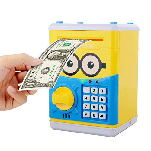Cartoon Piggy Bank for Children Kids Password Electronic Money Bank, Mini ATM Electronic Coin Bank Coin Box, Great Christmas Gift for Children by CreaTion (Image #6)