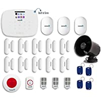 Fortress Security Store DIY Total Security Alarm System B Kit Includes Black Outdoor Siren, Panic Button, Remote Monitoring with FREE App. for Android/Apple and Much More for Complete Home Security