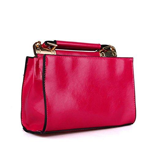 - KaiSasi 2016 Womens Fashion New Messenger Bag Multicolor Optional Oil Leather Shoulder Bag(Red)
