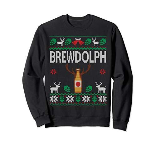 Brewdolph Ugly Christmas Beer Sweatshirt Craft Beer