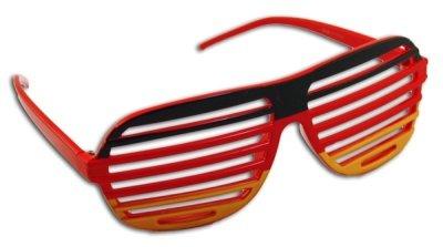 HAAC Atzenbrille Shutter-Brille Brille in Deutschlandsfarben Fahne Flagge Deutschland Fußball EM 2012