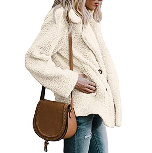 Jacket Double Clearance Parka Pocket Size Plus TUDUZ Casual Collar Button Women's Down Coat Turn Warm Winter Outwear White Solid Breasted Overcoat UgSqUpawr