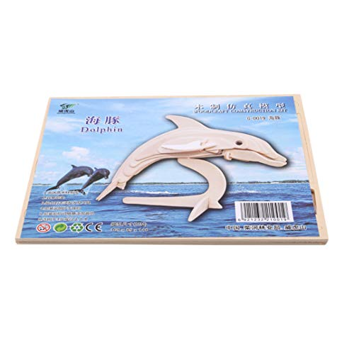 Joofff 3d wood For Dolphin Puzzle Wood Kids Pieces Toddler Picture Puzzles Jigsaw FgqxwtrF