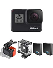 $249 » GoPro Hero7 Black Camera Bundle with Extra Battery (2 Batteries Total), Super Suit, and Bite Mount & Floaty