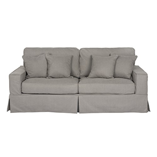 Sunset Trading Americana Slipcovered Sofa, Performance Gray