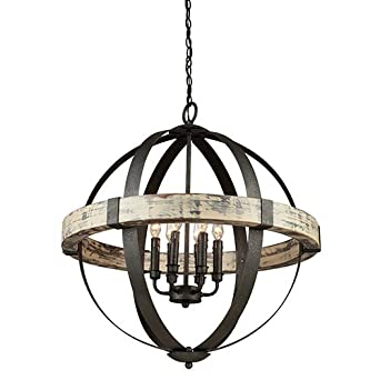 Artcraft Lighting Castello 6 Light Orb Chandelier, Black