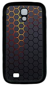 Hexagonal Grid Background TPU Case Cover for Samsung Galaxy S4 and Samsung Galaxy I9500 ¡§C Black