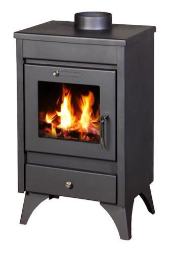 Estufa de leña chimenea quemador de leña para estufa chimenea de 9 kW