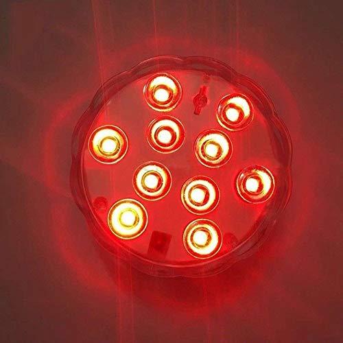 JesseBro76 4 PCS RGB Luz Sumergible Luz subacu/ática LED Luz de Piscina port/átil Transparente