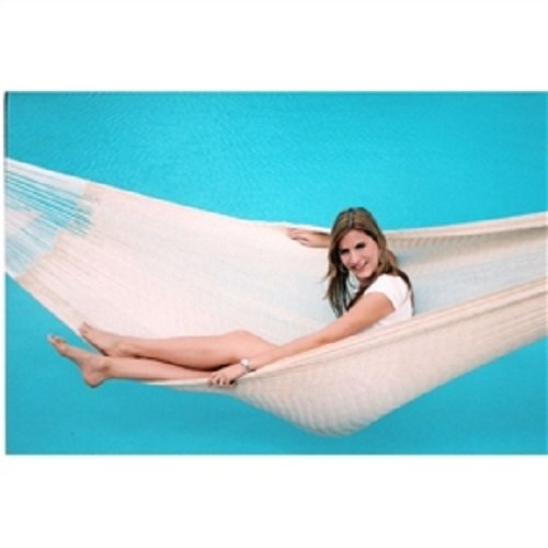 13-FT Long Handmade Yucatan Style Hammock in Natural Beige Color