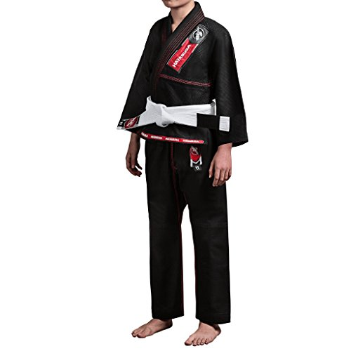 - Hayabusa Gold Weave Youth Brazilian Jiu Jitsu Gi, BJJ Gi (Black, Y1)