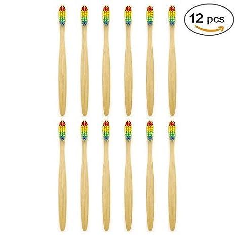 Cepillo de dientes de bambú Sonifox, ecológico, biodegradable y de madera. Cepillos con cerdas de nailon: Amazon.es: Salud y cuidado personal