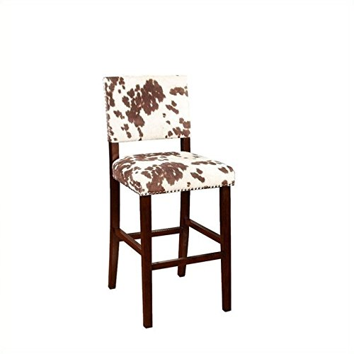 Linon Corey Bar Stool, Udder Madness (Chair Sale Bar For)