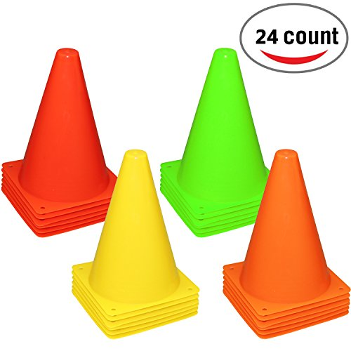 6 inch traffic cones - 1