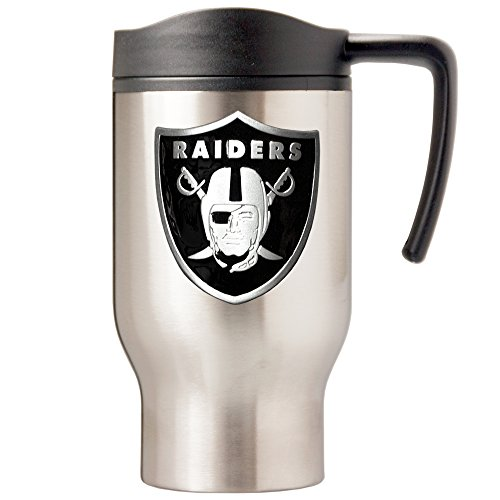 NFL Oakland Raiders 16oz Stainless Steel Travel Mug (Primary Logo)
