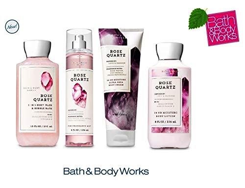 Bath and Body Works ROSE QUARTZ Gift Set - Body Lotion - Body Cream - Fragrance Mist & Shower Gel -Full size by Bath & Body Works