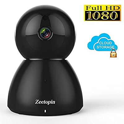 Wireless IP Camera, Zeetopin Wifi Home Security Surveillance Camera System 1080P HD For Baby/Elder / Pet/Nanny Monitor, Dome Cameras With Night Vision & 2 Way Audio for IOS/Android by Zeetopin