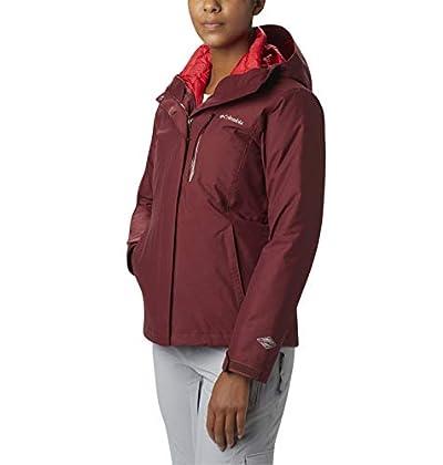 Columbia Women's Whirlibird Interchange Jacket, Waterproof and Breathable, Rich Wine Crossdye, Medium
