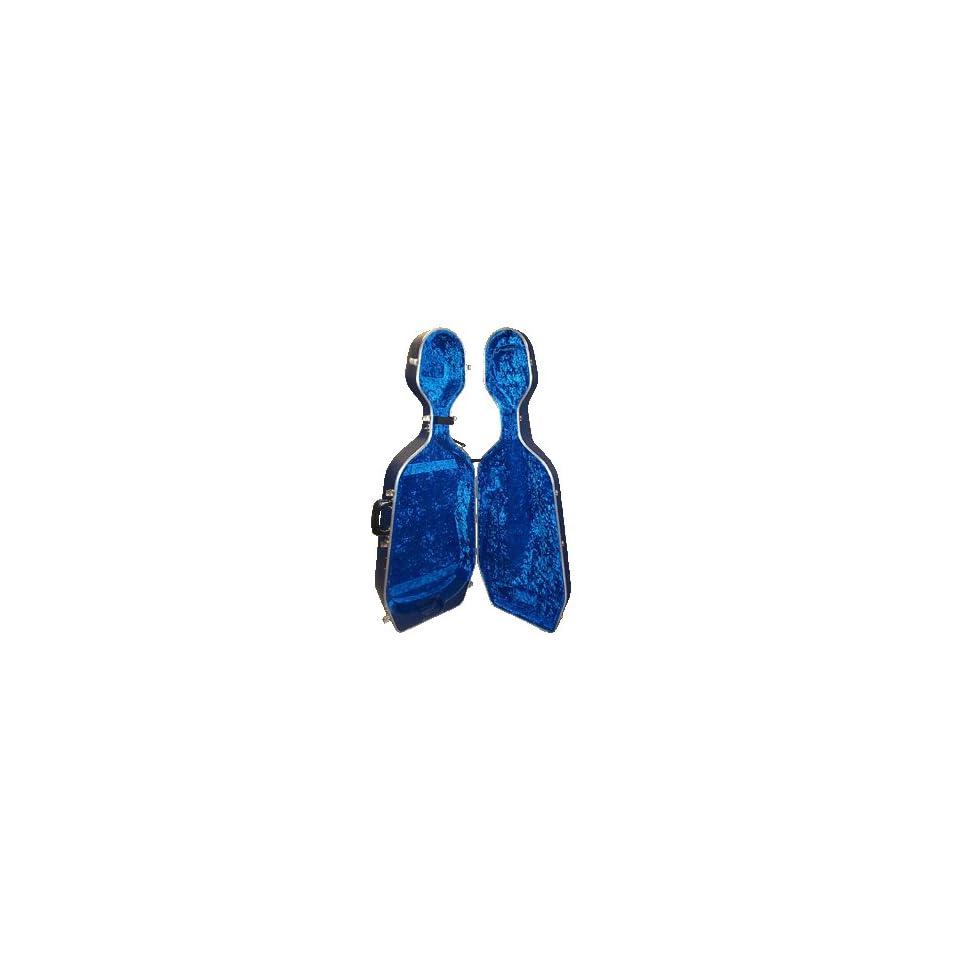 Hiscox Standard Cello Case W/wheels Black/blue