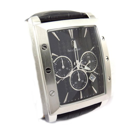 Pierre Lannier [K1583] - Wrist watch for men 'Pierre Lannier' steel black waterproof (mpt).