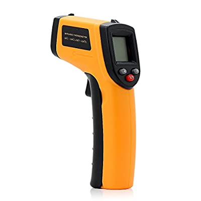 Orange Digital LCD IR Infrared Laser Thermometer Temperature Gun Pyrometer