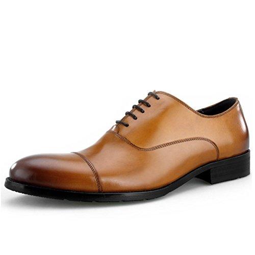 Dentelle Chaussures Cuir Hommes Brown Occasionnels LYZGF Jeunes en Mode Gentleman Affaires TqnYwz0