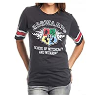Camiseta de hockey negra Bioworld Harry Potter Hogwarts Juniors (mediana)