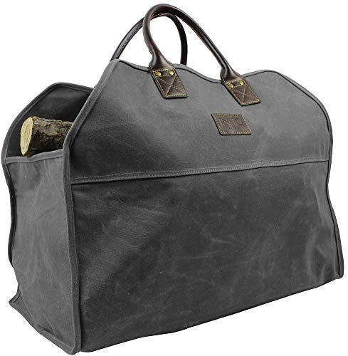 INNO STAGE Waxed Canvas Firewood Log Carrier, Extra Large Storage Tote Bag