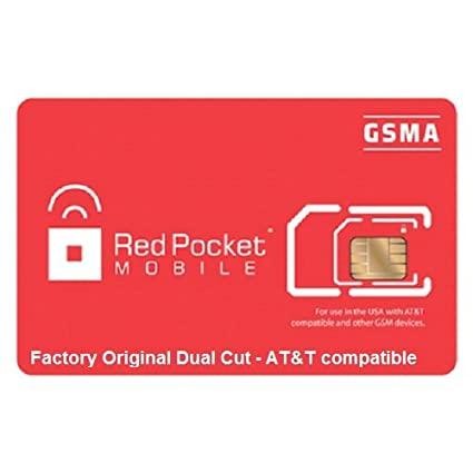 Amazon.com: Rojo bolsillo corte dual gsma at & T COMPATIBLES ...
