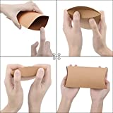 CEWOR 50pcs 6.3×3.7 Inches Kraft Pillow Box with
