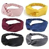 DRESHOW 6 Pack Headbands for Women Boho Headbands