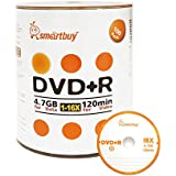 Smart Buy 100 Pack DVD+R 4.7gb 16x Logo Blank Data Video Movie Recordable Disc, 100 Disc 100pk