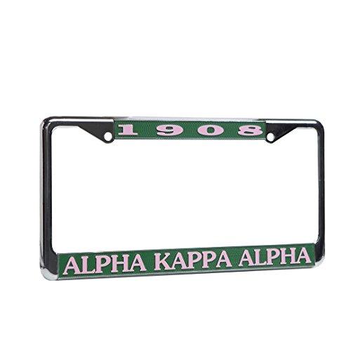 Alpha Kappa Alpha License Plate - Frame Alpha