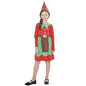 YGSYSC Disfraz De Ayudante De Santa para Niñas, Disfraz De Elfo ...