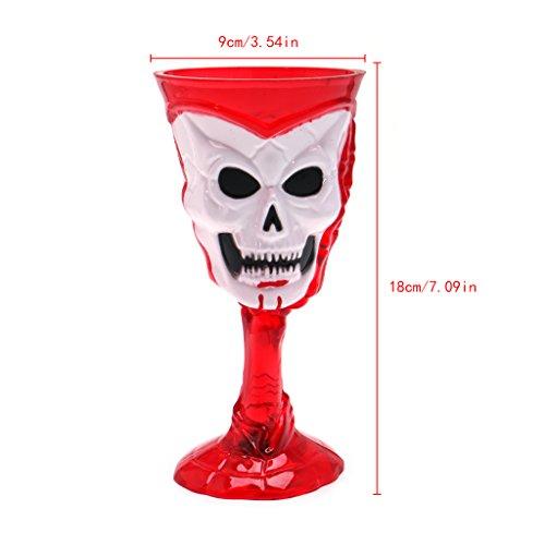 Gigory Halloween Luminous Skeleton Cup Glass, Creative Horror Glass Mug Fancy Dress Costume Prop Party (Halloween Vegetable Skeleton)
