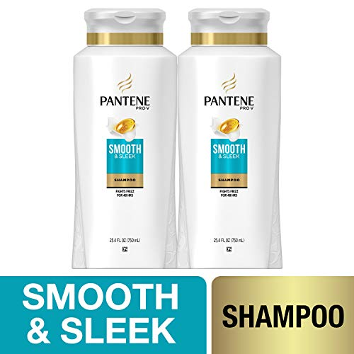 Pantene Pro-V Smooth and Sleek Shampoo 25.4 Fl Oz Pack of 2