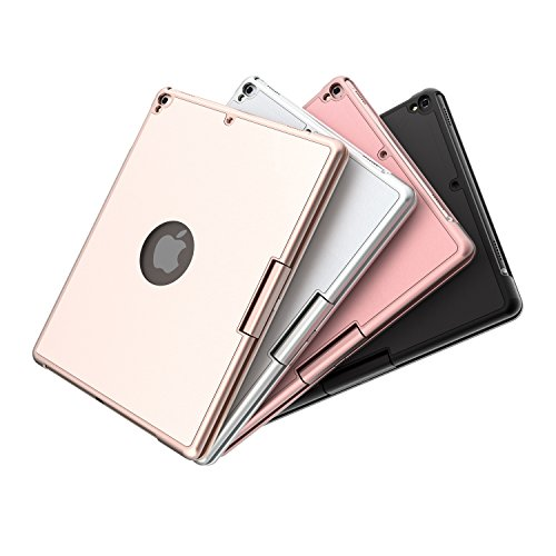 Keyboard for iPad 6th Generation 9.7inch (2018)-iPad 2017(5th Generation)-iPad Pro 9.7inch -iPad Air 2 &1, Wireless/BT-360 Rotatable -Breathing LED & 7 Colors Backlit - iPad Keyboard Case(Rose Gold) by Bosixty (Image #6)