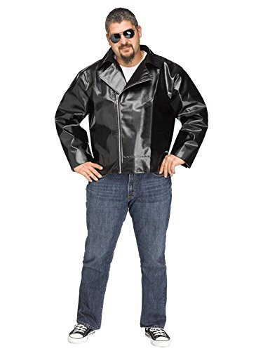 Fun World Men's Rock 'n' Roll Plsz Jacket, Multi, Plus Size -