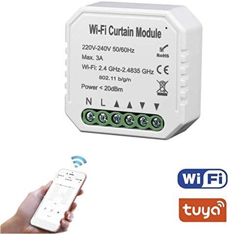 Facibom Tuya Smart Life M/óDulo de Interruptor de Cortina WiFi para Persiana Enrollable Motor El/éCtrico Home Alexa Echo Casa Inteligente