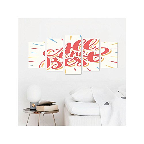 Liguo88 Custom canvas Going Away Party Decorations All the Best Greeting Card Inspired Wish Cute Colorful Wall Hanging for Bedroom Living Room Coral Yellow (Flower Gallery Music Box)