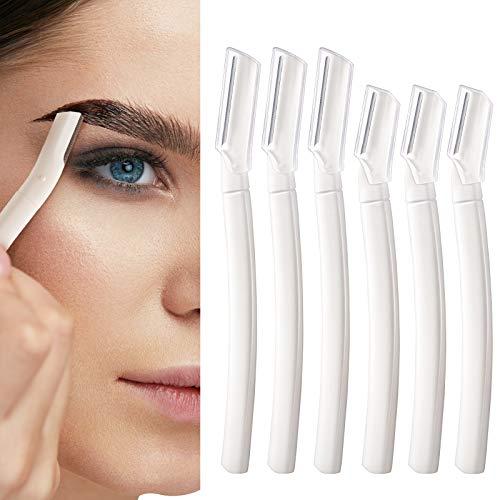 Harrhys 6 Pieces Facial Razor Eyebrow Razor Multi-function Home Skin Care Tool Eyebrows Shaper Trimmer Shaver Facial…