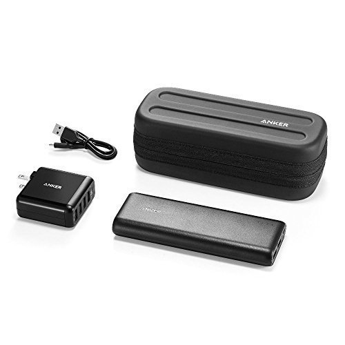Anker-Power-Combo-PowerCore-20100-and-PowerPort-4-Ultra-High-Capacity-Compact-Size-Portable-Charger-and-High-Speed-Multiport-USB-Charger-with-Protective-Custom-Carry-Case