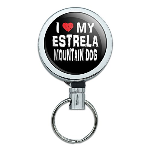metal-retractable-reel-id-badge-key-holder-with-belt-clip-i-love-my-dog-e-k-estrela-mountain-dog-sty