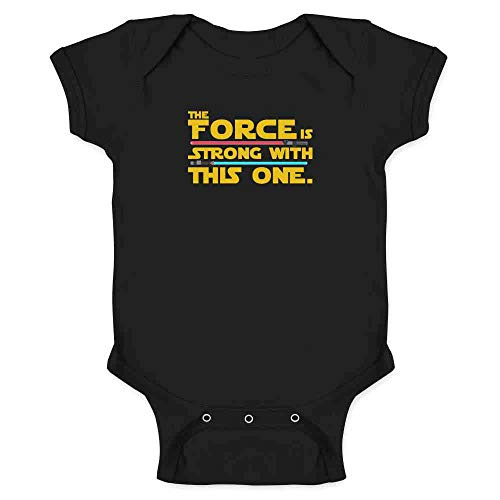 The Force is Strong with This One Black 12M Infant Bodysuit