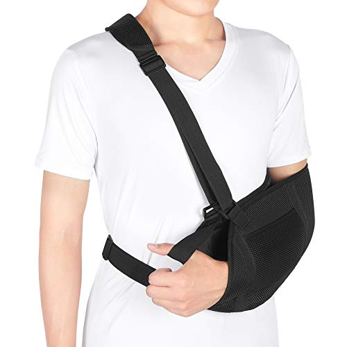 - Arm Sling, Breathable Mesh Medical Sling with Waist Strap, Shoulder Immobilizer Elbow Arm Support for Broken Arm, Wrist, Elbow, Shoulder Injury, Available for Women and Men, Left or Right Arm