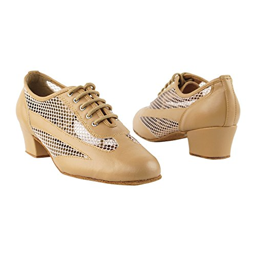 Practice Dress Beige Theather Thick Collection Heel~ by Tango Art 2009 Cuban Party 50 Gold Women of Shades Party Teaching Latin Shoes Dance Brown Leather Ballroom Swing Salsa Pigeon Shoes XWRqFz6A